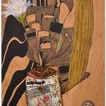 BIS ZUM LETZTEN TROPFEN | Mischtechnik auf Holzkörper | 2015-2017 | 30 x 50 cm | Foto (c) Rudolf Schmied