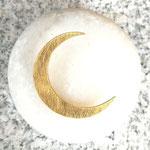 Mondsichel Ohrstecker gross - vergoldet