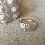 Seeigel Ring Silber