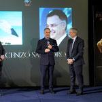 Lecce (Italia), 30 giugno 2018. Grand Hotel President, Sala Apulia. Sul palco con, a sinistra della foto, il Dr. Michele Miulli, Presidente del Comitato d'Onore, e sulla destra il Dr. Roberto Chiavarini.  (ItalPhoto  Mesagne)