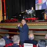 """16 dicembre 2017. Lecce, Antico e Monumentale Teatro """"G. Paisiello"""". Il mio saluto al pubblico in sala in qualità di Componente del Senato Accademico del Comitato d'Onore al Premio. ( ItalPhoto Mesagne)."""