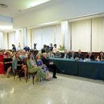 Lecce (Italia), 30 giugno 2018. Grand Hotel President, Sala Apulia. Il tavolo del Comitato d'Onore e il numeroso pubblico presente in sala. (ItalPhoto  Mesagne)