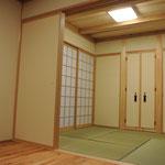 和室は本物の畳