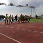 Start zum 800m Lauf......