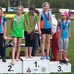 Viktoria 1. Platz / Charly 2. Platz (U12) Wurf Softspeer