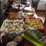 Das Kuchenbuffet war gut gefüllt