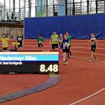 Geschafft.... Kilian läuft auch im Finale über 60m auf den 1. Platz