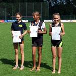 Lucia Weitsprung 6. Platz mit 4,17m