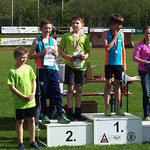 Kilian 2. Platz und Nico 4. Platz (U12) - 60m Lauf