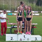 Staffel 4x100m (U14) - 1. Platz !! mit Vevi, Lucia, Paula und Viola