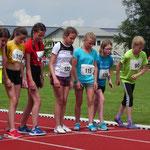 Amelie bereit für den 800m - Start
