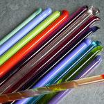 Glasstangen transparent und opak
