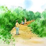 景観整備の遊歩道部の部分スケッチ2