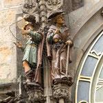 Horloge de l'Hotel de Ville - la Vanité et l'Avarice