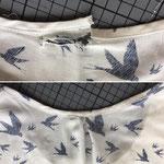 T-Shirt Ausschnitt flicken