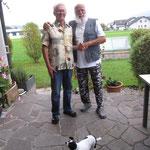 Der bekannte Zauberer, Künstler Jimmy Lugano bei mir Zuhause