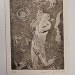 """Franco Annoni Radierung 17  """"Verzweiflung"""""""