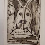 "Franco Annoni Radierung 11 ""Maske"""