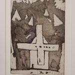 "Franco Annoni Radierung 14 ""Das Kreuz"""