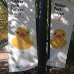 Ringsherum wird fleißig Werbung für Rubber Duck gemacht