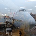 Unser Flieger nach Südkorea