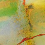 Grün trifft Orange, 40 x 120 x 4 cm, € 300,00