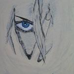 blue eys 30 x 40 cm