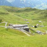 Blick zum Alpenhaus.