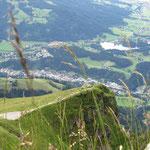 Blickrichtung Schwarzsee und Kirchberg in Tirol.