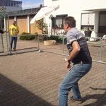Testspiel als Minifussballfeld
