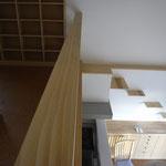 2階のキャットルームとキャットステップ