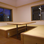 タタミのリビング・堀コタツ式テーブル