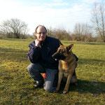 Arne mit Schäferhund MÄX