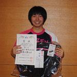 一般女子シングルス優勝 森山果歩(出雲西高等学校)