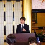先生はこの講座の後、会議のためにすぐ東京に戻られました。