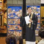 安養寺様の御住職、海野壽夫先生。