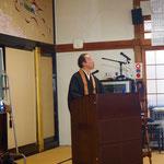 松野尾慈音先生です。昼・夜の二座、お取次ぎをいただきました。
