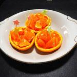 デザートはおいしいオレンジでした!