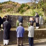 善鸞さまの墓所もお参りして、本年も報恩講終了でございます。