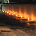 参道の蝋燭。