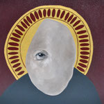Nosotros miramos para otro lado /2014 / oleo s-tela / 40x40 cm