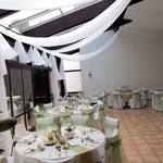Hochzeitsdekoration, Himmelsdecke, Baldachin
