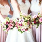 Brautstrauß und Trauzeugen-Sträußchen