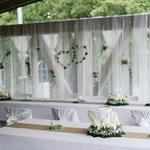 Brautpaartischhintergrund, Brautpaartisch