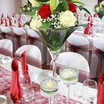 Blumengesteck, Tischdekoration