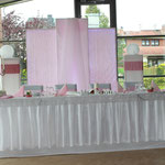 Brautpaartisch-Hintergrund