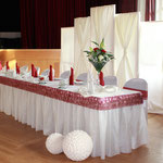 Brautpaartisch-Hintergrund, Brautpaartisch