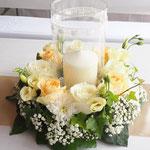 Blumengesteck, Zylindervasen