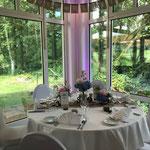 Brautpaartisch, Tischdekoration