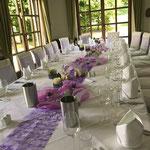 Tischdekoration, Candlight-Vasen von Sandra Rich